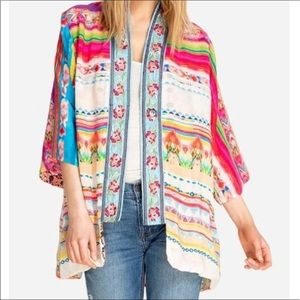 Johnny Was Maci  kimono with embroidered border